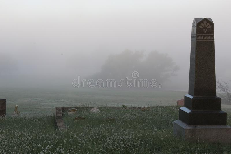 Foggy Cemetery stockfotos