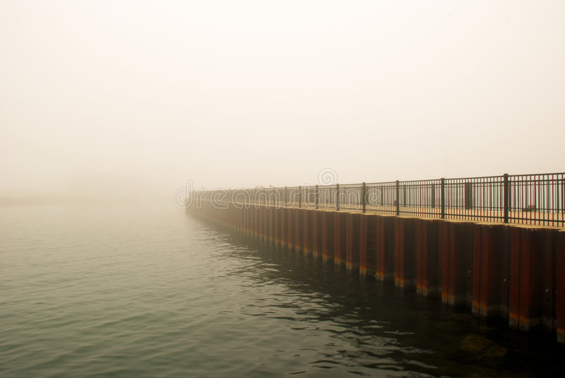 Download Foggy Chicago stock image. Image of walking, lake, silhouette - 2693551