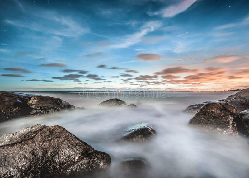 Foggy Coastline At Sunrise Free Public Domain Cc0 Image