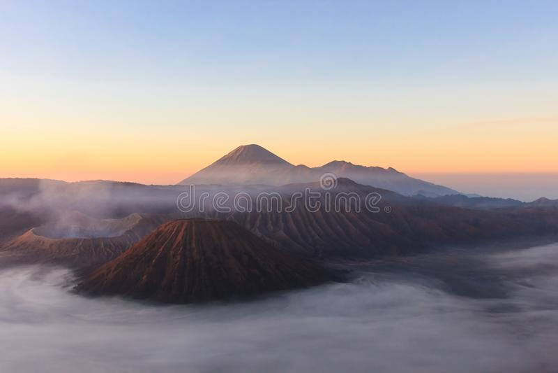 Morning shot of Gunung Bromo, Java, Indonesia royalty free stock photos