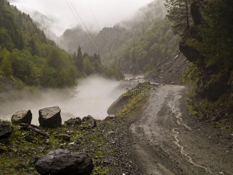 Foggy day - Caucas stock photography