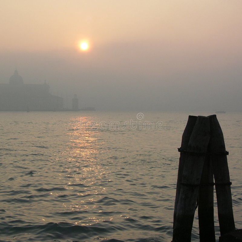 Download Foggy day in Venice stock photo. Image of sunset, autumn - 153644