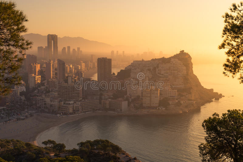 Foggy early morning royalty free stock photography