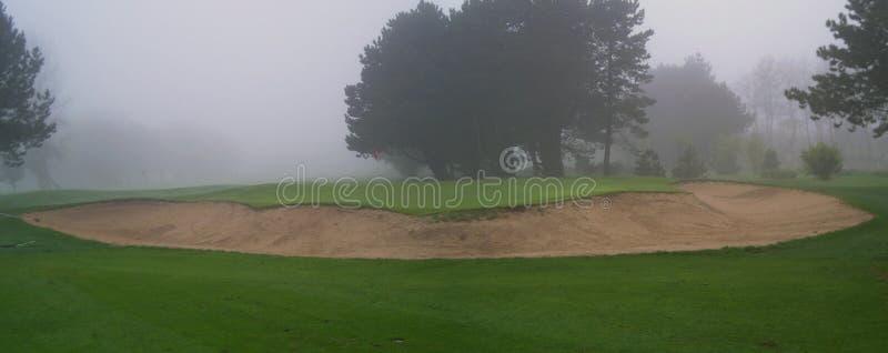 Foggy Golf Bunker stock images