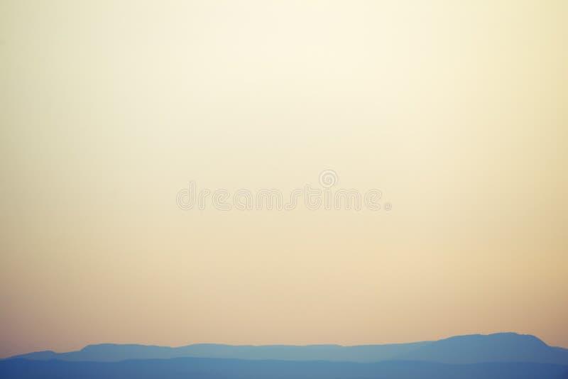 Foggy hills. Beautiful hiils under foggy skies. Nature background stock photo