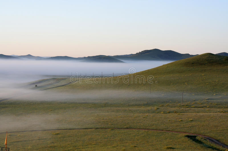 Foggy morning royalty free stock image