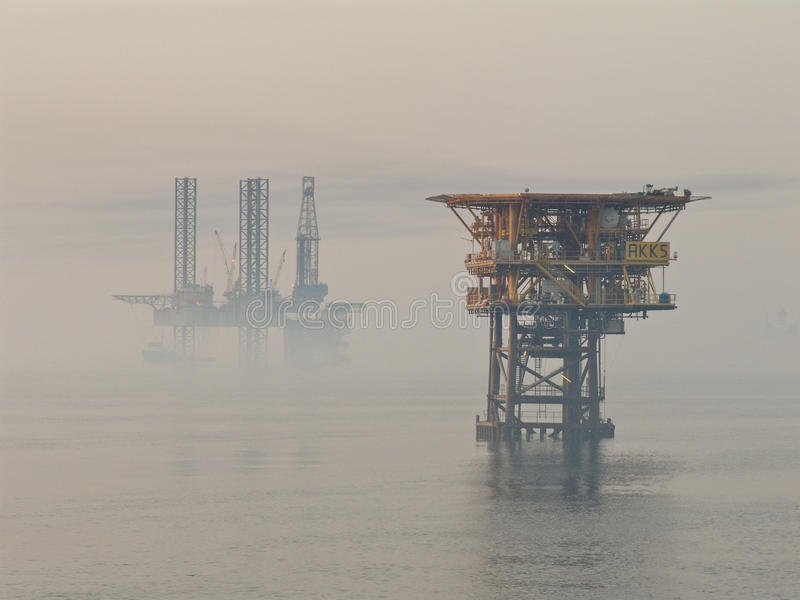 Foggy morning in Persian Gulf stock photos