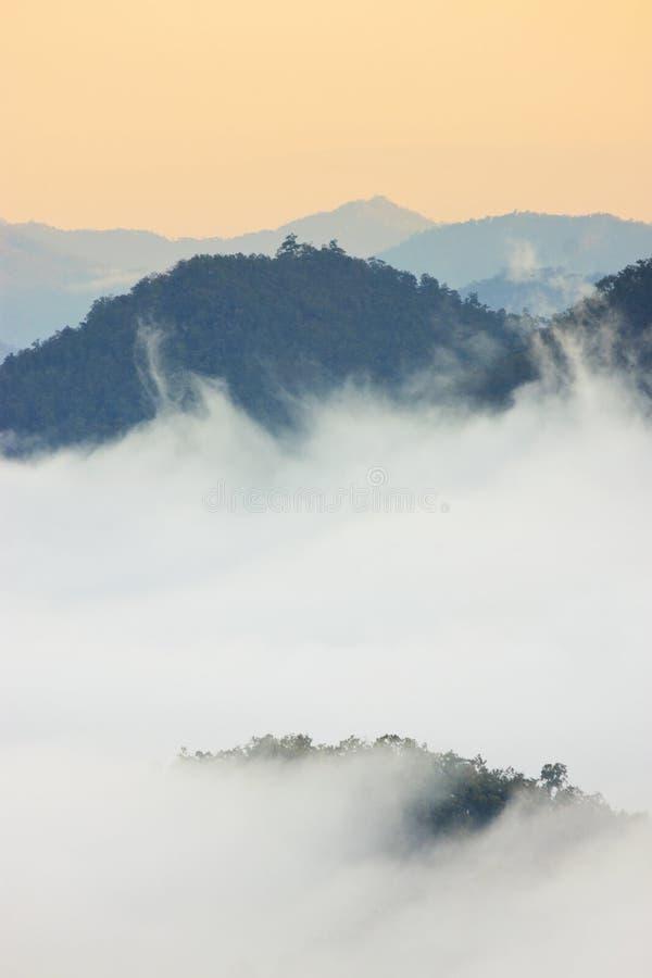Download Foggy Morning Sunrise Mountain Background Royalty Free Stock Photography - Image: 12413327
