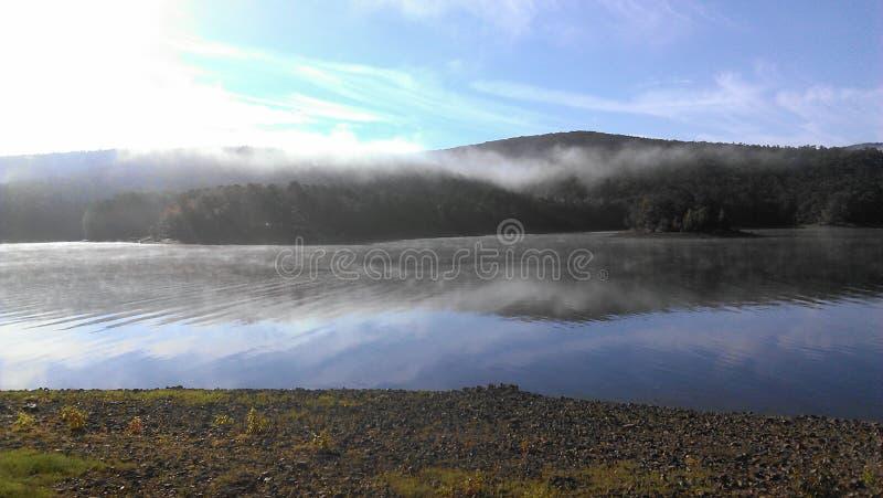 Foggy mountain royalty free stock image