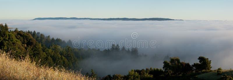 Foggy mountain panorama royalty free stock photo