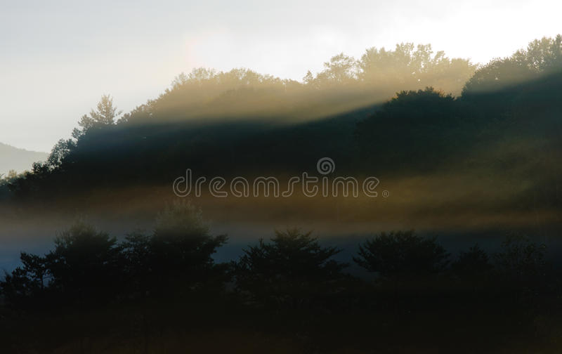 Download Foggy Mountain Views At Sunrise Stock Image - Image: 21740355