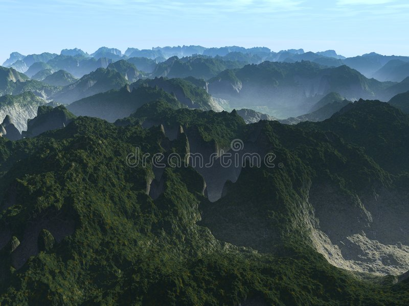 Download Foggy Mountains Stock Photography - Image: 3345232