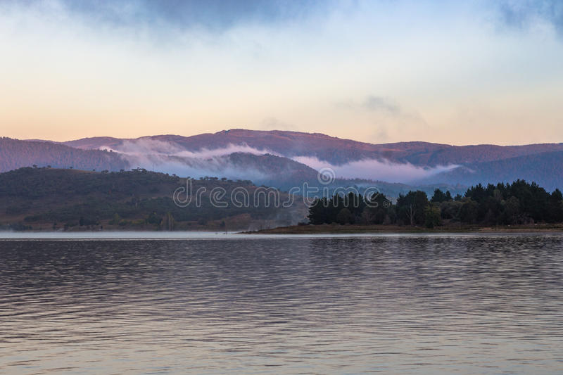 Foggy mountains stock images