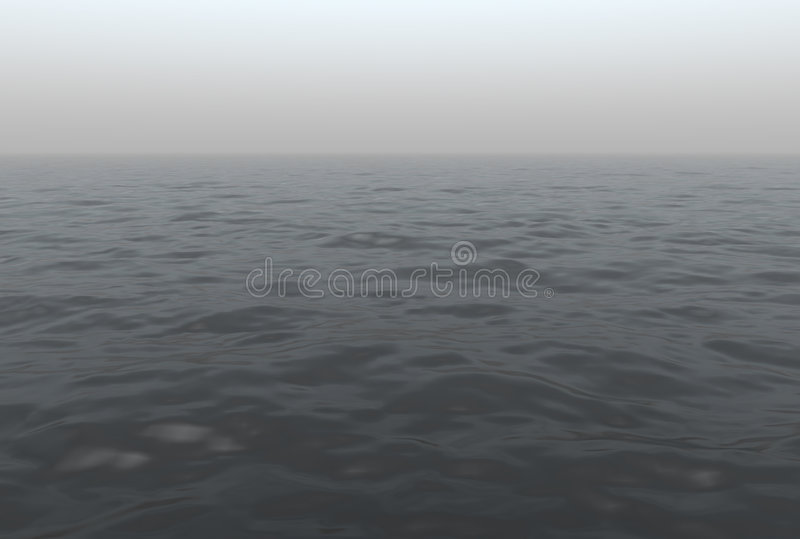 Download Foggy Ocean Scenic stock illustration. Illustration of generated - 9210913