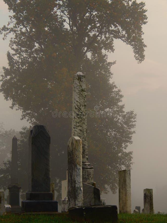 Free Foggy Old Graveyard In Autumn Stock Photos - 42862913