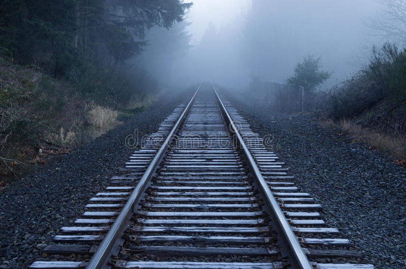Download Foggy Railroad Tracks stock photo. Image of frost, fading - 40244386
