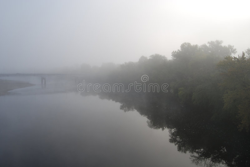 Download Foggy River stock photo. Image of calm, haze, gray, woods - 1252424