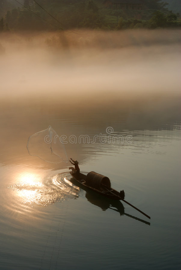 Free Foggy River In Sunrise Royalty Free Stock Photo - 6296345