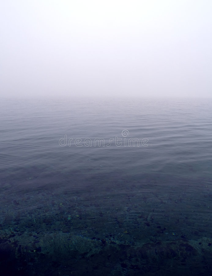 Download Foggy sea scene stock photo. Image of calm, peace, misty - 7040166