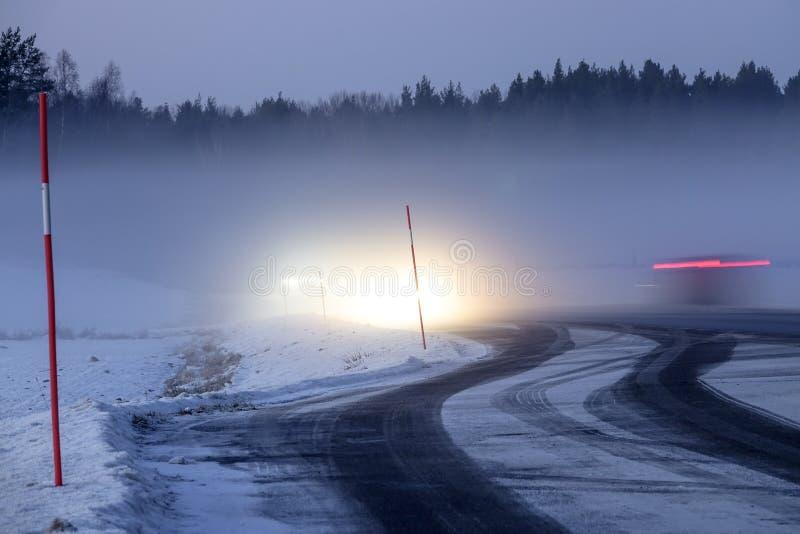 Foggy snowy landscape. royalty free stock image