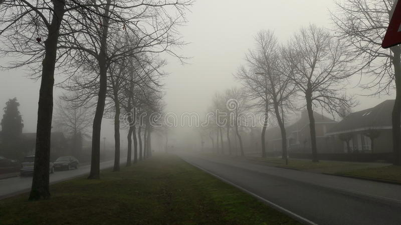 foggy street στοκ φωτογραφίες με δικαίωμα ελεύθερης χρήσης