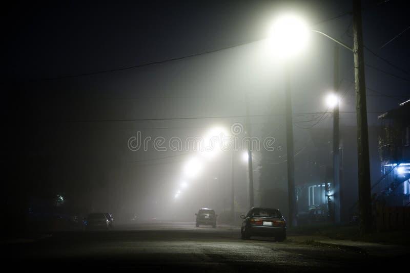 Foggy street royalty free stock photography