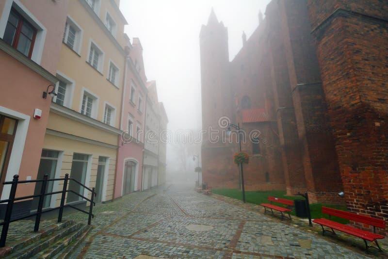 Download Foggy Street Scenery Of Kwidzyn Stock Image - Image: 27318891