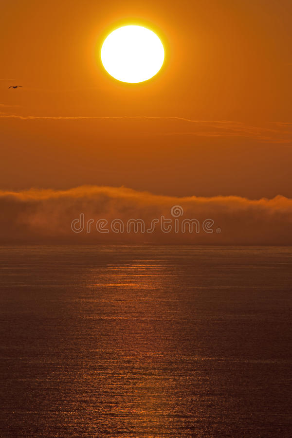 Download Foggy Sunset stock photo. Image of ocean, coast, anglesey - 25823182