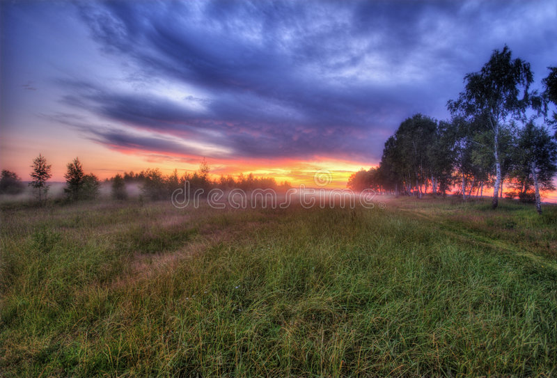 Foggy sunset in Russia-3