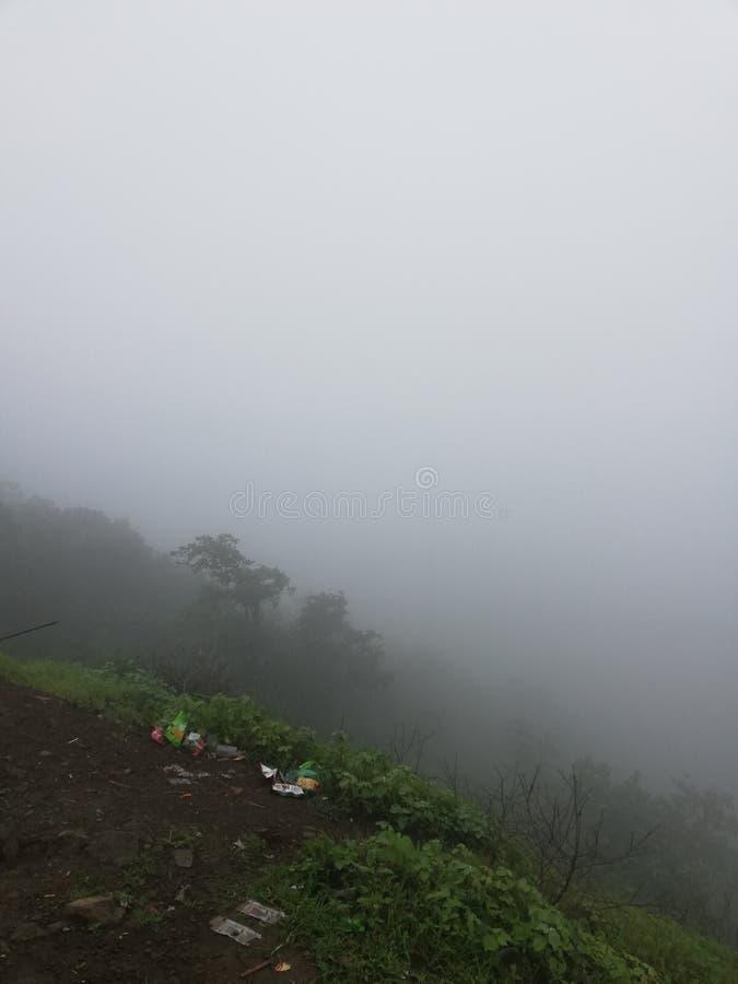 Foggy weather Janapav indore india stock image