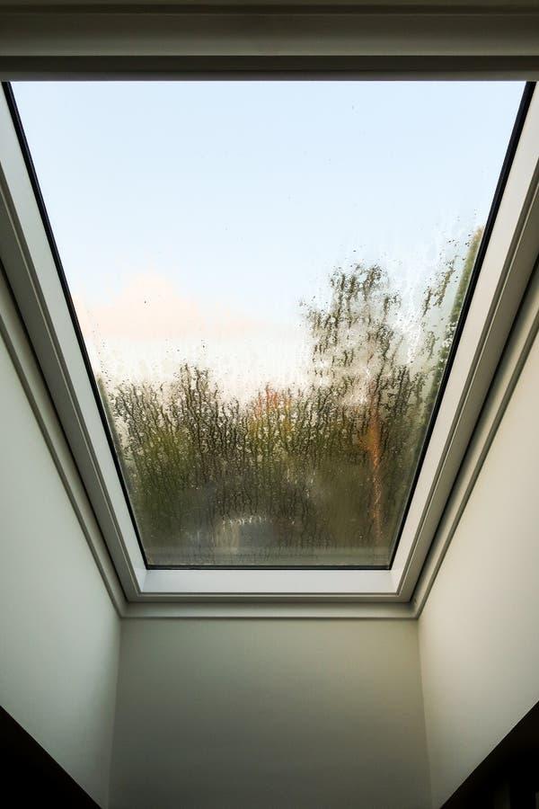 Foggy window stock photography