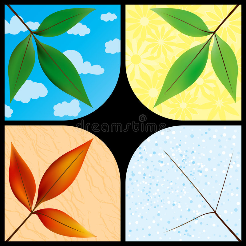 Fogli con le stagioni illustrazione di stock