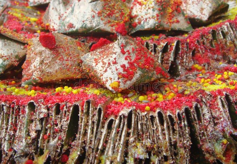 Fogli decorati del betel immagine stock