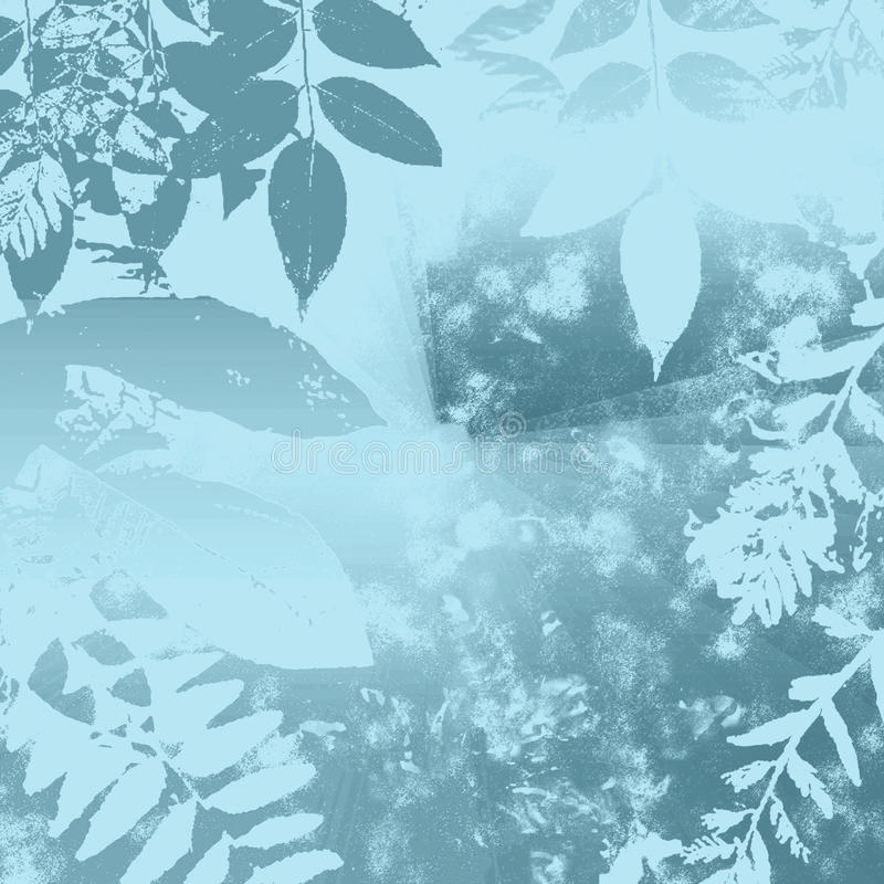 Fogli dell'azzurro di inverno illustrazione di stock