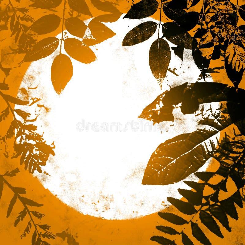 Fogli di autunno di Grunge royalty illustrazione gratis