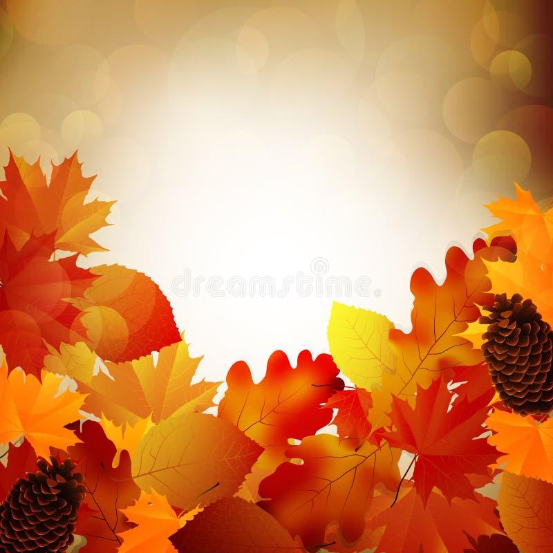 Fogli di autunno, fuoco molto poco profondo illustrazione di stock
