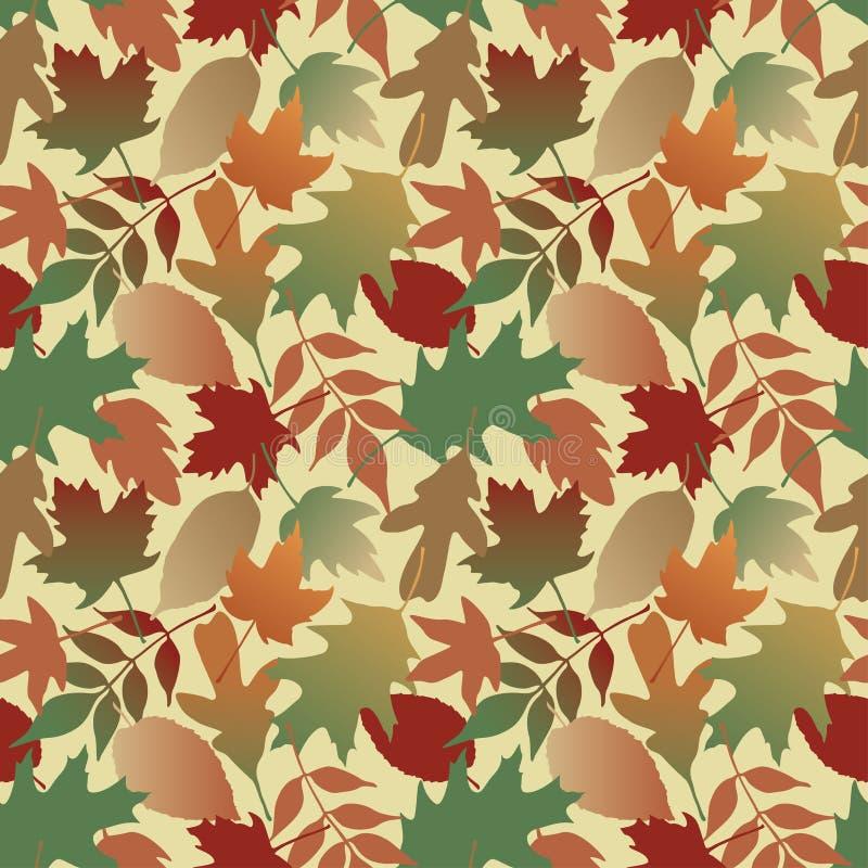 Fogli di autunno Gradient_Yellow royalty illustrazione gratis