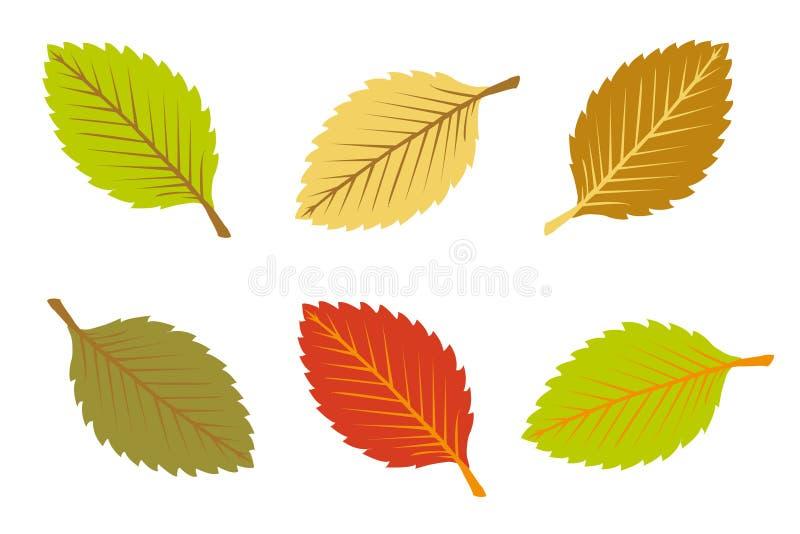Fogli di autunno variopinti illustrazione di stock
