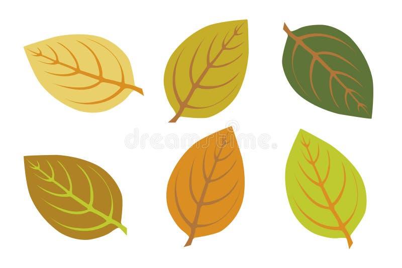 Fogli di autunno variopinti royalty illustrazione gratis