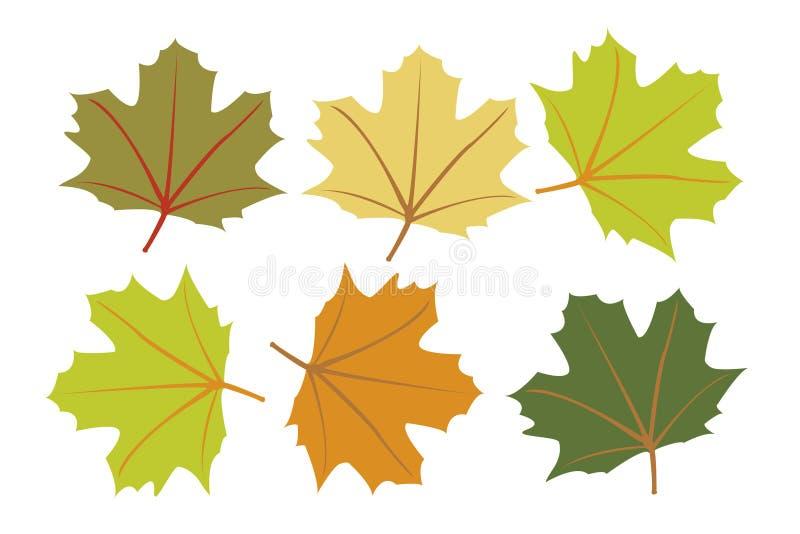 Fogli di autunno variopinti illustrazione vettoriale