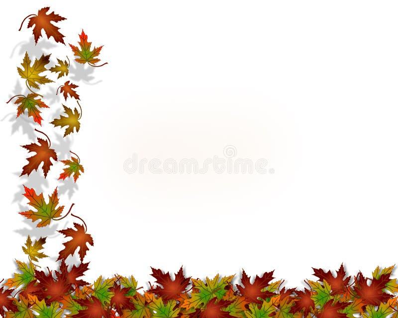 Fogli di caduta di autunno di ringraziamento illustrazione di stock