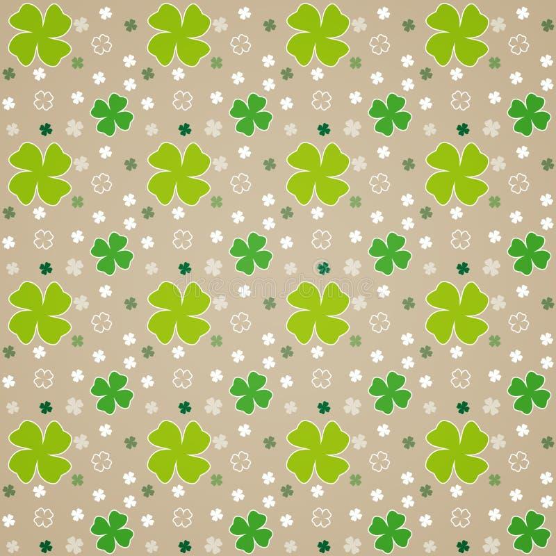 Fogli di verde su Brown illustrazione di stock