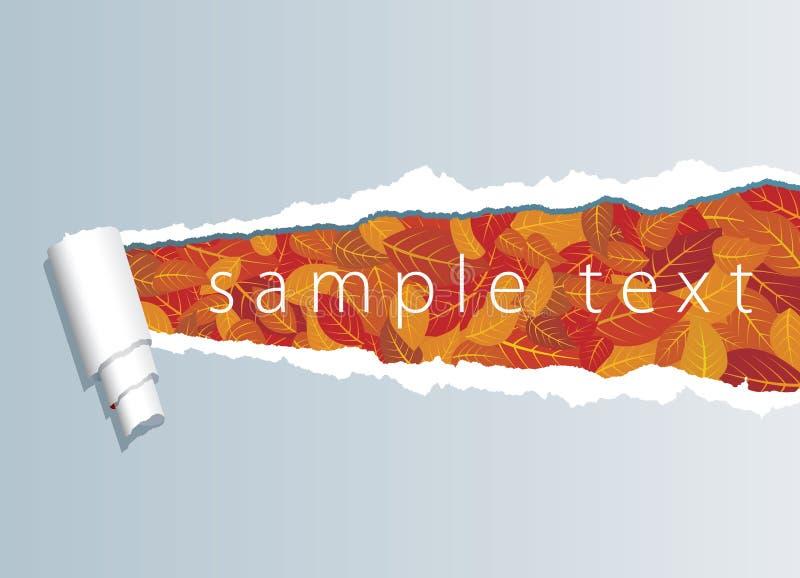 Fogli strappati di colore rosso illustrazione vettoriale - Caduta fogli di colore stampabili ...