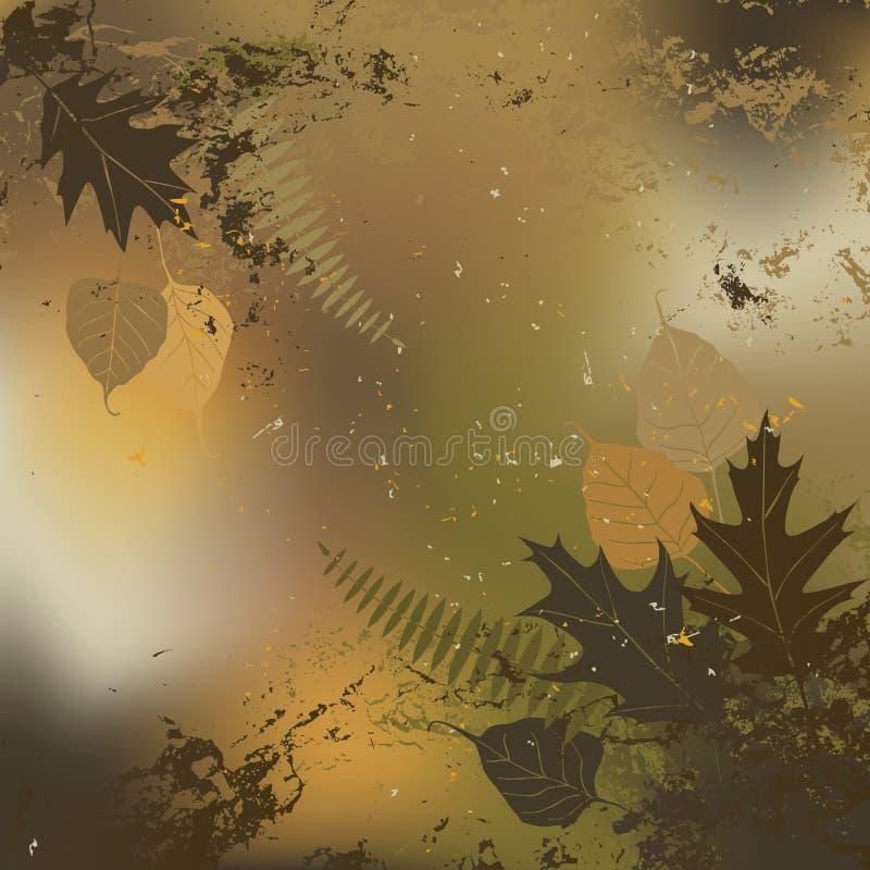 Foglia, autunno - fondo di vettore illustrazione di stock