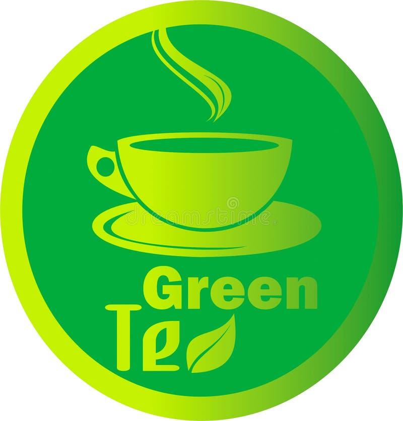 Foglia calda del tè verde di logo fotografia stock libera da diritti