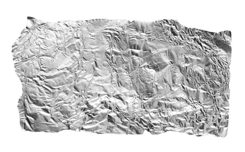 Foglia d'argento su un fondo bianco fotografia stock