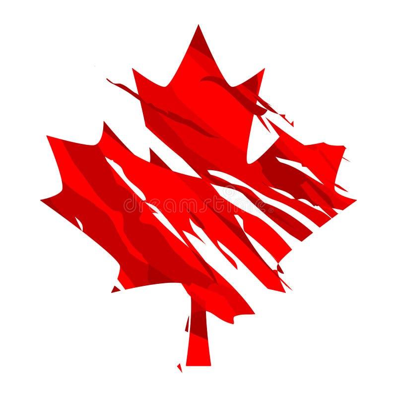 Foglia di acero del Canada illustrazione vettoriale
