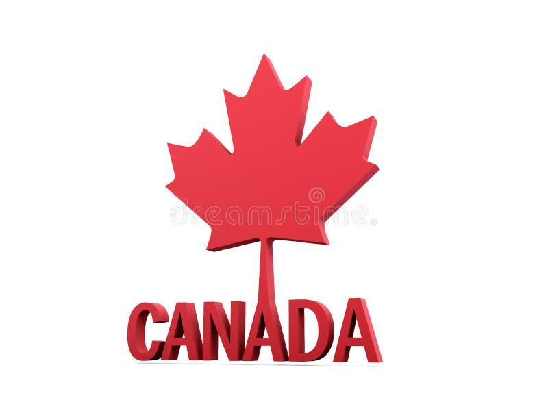 Foglia di acero del Canada 3D illustrazione vettoriale