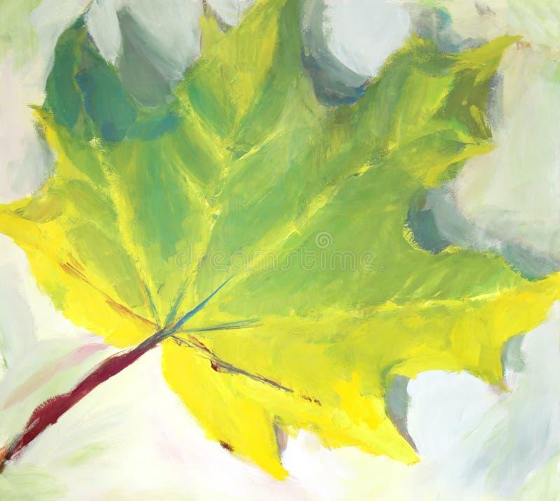 Foglia di autunno di Painited fotografie stock libere da diritti