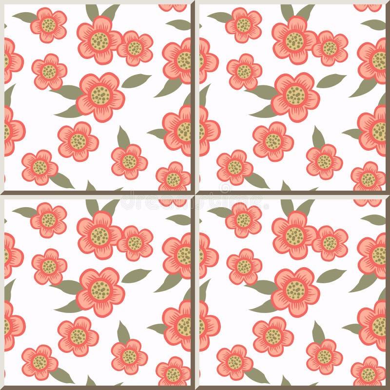 Foglia di verde del fiore di rosa del modello della - Modello di base del fiore ...